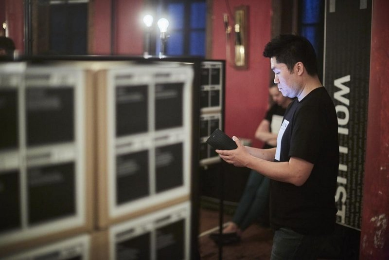 Kultur Symposiums des Goethe Institutes in Weimar 2016. Veranstaltung im Kasseturm. Being Faust Physisch digitales Spiel Goethe Institut Korea, Kooperation mit NOLGANG