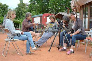 Das Filmteam des Gemeinschaftsgartens NeuLand, ©Gesa Maschkowski, aid