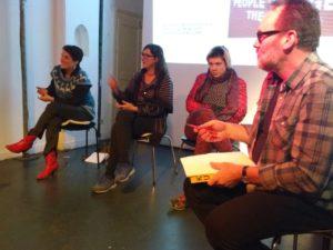 Ursula Maria Berzborn, Steffi Weismann, Lulu Obermayer, Robert Hollands, Foto: comusterer